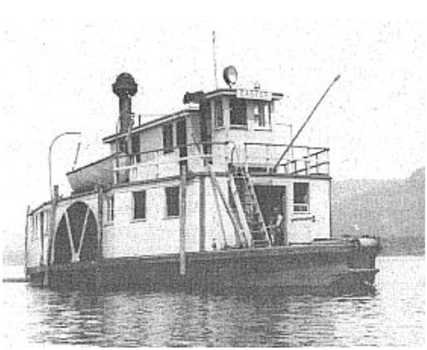 One of the earliest tug boats to float and be photographed on the Ottawa River